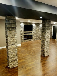 Makeover Masterpiece! New Basement Accent Wall and Columns