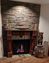 Corner Fireplace Surround Done Right, The Second Time Around