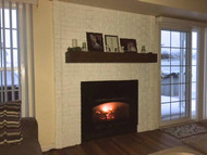 White Brick Fireplace: DIY Build with Faux