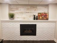Faux White Brick Lightens Up a Basement Fireplace