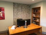 Adding Character to a Home Office with Accent Walls