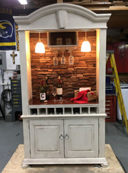 DIY With a Twist: TV Armoire Turned Bar Cabinet