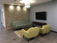 Office Waiting Room Accent Wall: Subtle Details Make the Design