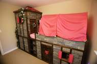 Fairy Tales Do Come True! DIY Princess Castle Bed