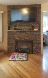 Creating a Stone Look Fireplace with Panels & Plywood