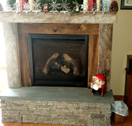 DIY Fireplace Construction with Real and Faux Materials