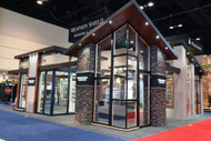 Trade Fair Booth Design with Regency Stacked Stone