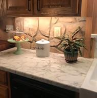 Country Kitchen Backsplash with Fieldstone Texture