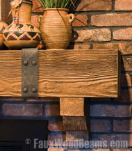 How to Decorate a Beam or Mantel with Strapping Style