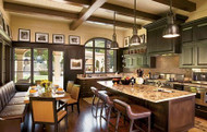 Faux Beams in Lance Armstrong's Kitchen