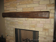 Fireplace Mantel Design with Cowboy Character