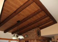 Dining Room Design with Artificial Wood Beams