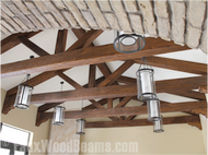 Building Wood Trusses with Faux Ceiling Beams