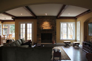 Home Makeover Completed with False Ceiling Beams
