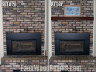 Quick and Easy New Wood Beam Fireplace Mantel