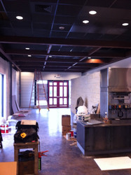 Modern Look for All Star Burgers, Using Faux Wood Beams