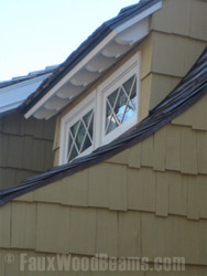 Real Wood Rafter Tails Add Classic Touch to Modern Home