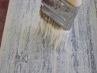 Dry Brushing Paint or Stain on Beams