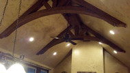 Stunning Ceiling Truss using Faux Wood Beams