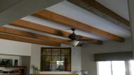 Faux Oak Ceiling Beams Add California Cool