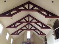 King Post Trusses Add Design Magic to a Cathedral Ceiling
