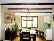 Staining the Secret to these Synthetic Wood Beams