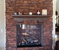 DIY Mantel Shelf makes for a Festive Fireplace