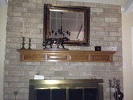 A Rustic Mantel Warms Things Up