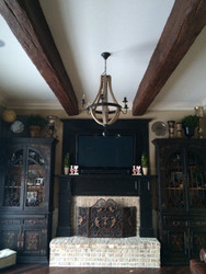 A Faux Beamed Ceiling with Period Furniture to Match