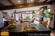 Exceptional DIY Kitchen Makeovers with Beams