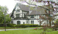Tudor Revival Homes Revived with Faux Planking