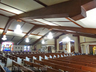 Church Ceiling Designs with Decorative Beams