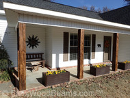 Decorative Front Porch Wood Beams With Custom Timber Support Posts