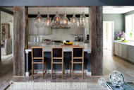 DIY Kitchen Makeover Ideas with Beams and Panels