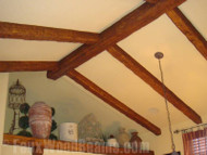 Drywall Ceiling Remodels with Faux Beams