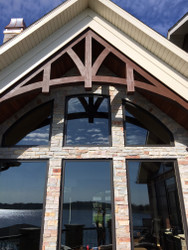 Arched King Truss Built for a Custom Home Exterior