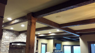Breaking Up the Fifth Wall with Exposed Ceiling Beams
