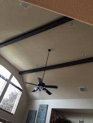 High Ceiling Beam Installation
