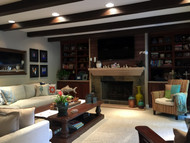 Pro Interior Designers Go Faux for Living Room Remodel