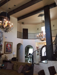 New Tuscan Style Home Wows with Faux Beams