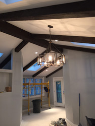 New Home Construction with Exposed Beam Ceilings