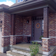 Faux Wood Columns Make a Front Door Stand Out