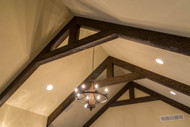 Great Room Ceiling Made Stunning with Trusses