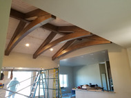 Project Sneak Peek: Arched Trusses in Bob's Living Room