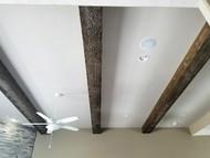Simply Rustic Great Room with Beachwood Beams