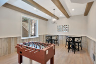 Game Room Design Gets Real With Beams