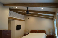 Bedroom Redesign: A New Rustic Look for an Outdated Ceiling