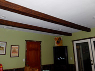 Custom Stained Beams Make the Living Room