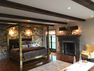 Master Bedroom Design with Classic Exposed Beams