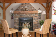 Living Room Mantel Project: Blending Faux with Real Wood